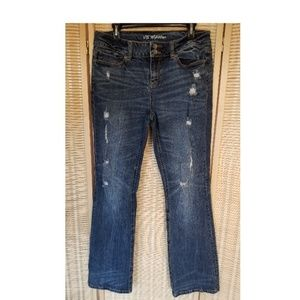 Victoria's Secret Hipster Distressed Blue Jeans